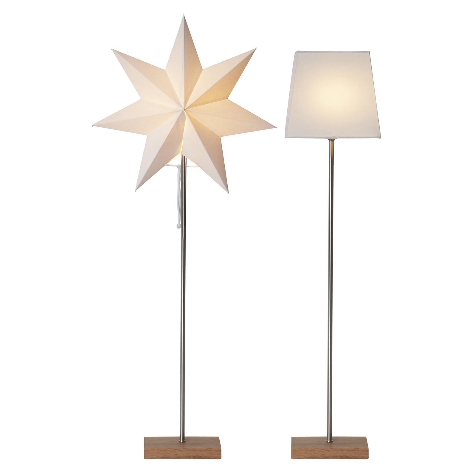 Moa dekorationslampe, kombi af stjerne + skærm