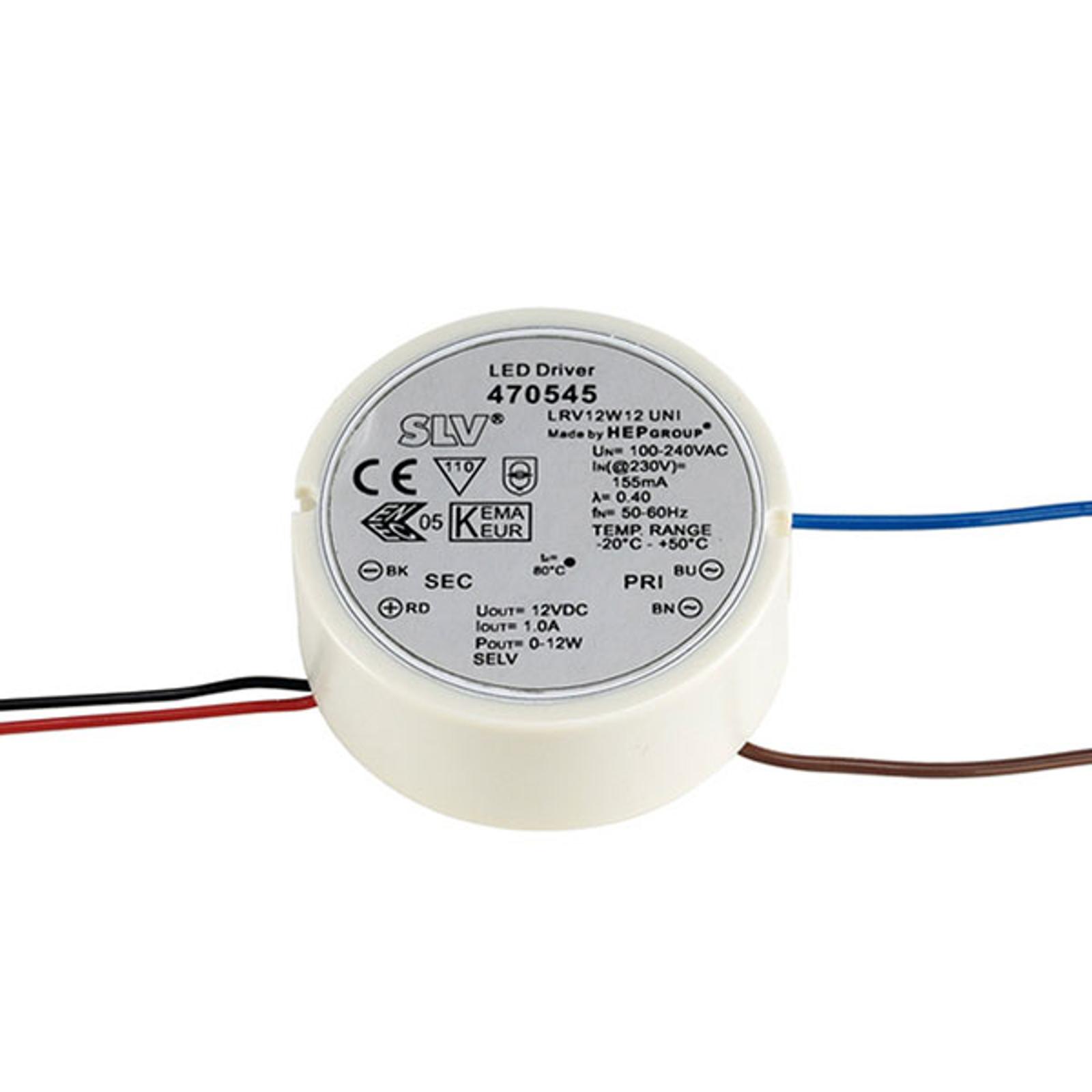 SLV LED-Netzteil 12V DC/12 W rund