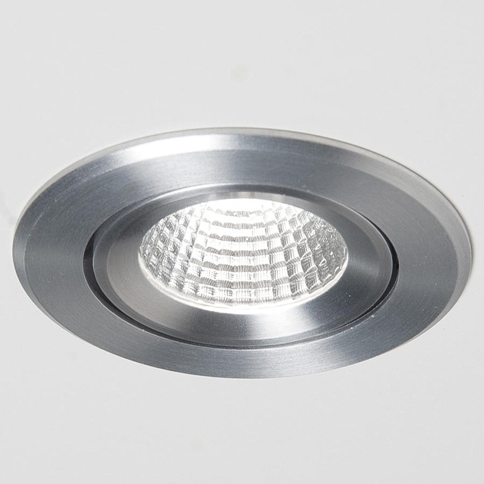 Agon Round spot encastré LED 3000K 40° alu brossé