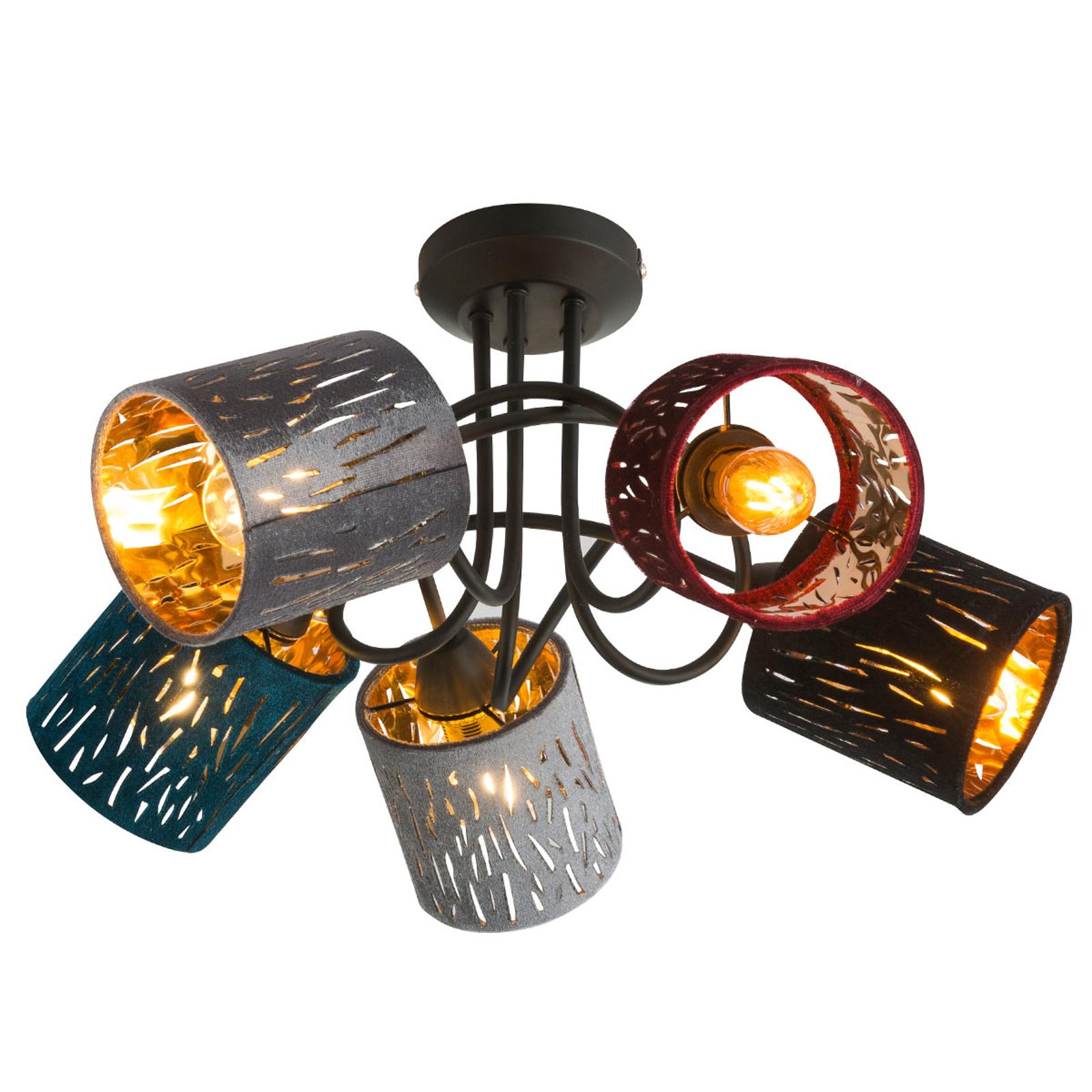 Plafonnier Ticon à cinq lampes au look moderne.