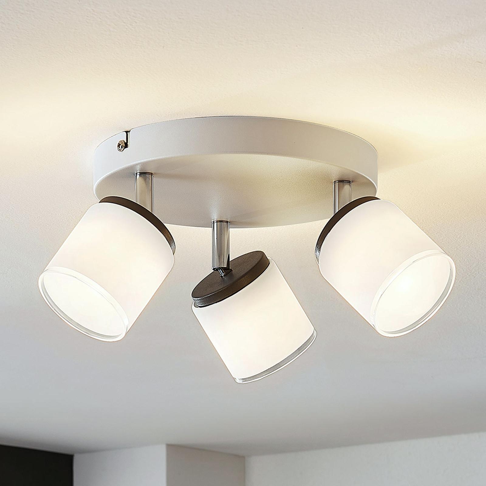 Faretto da soffitto LED Futura a 3 luci, tondo