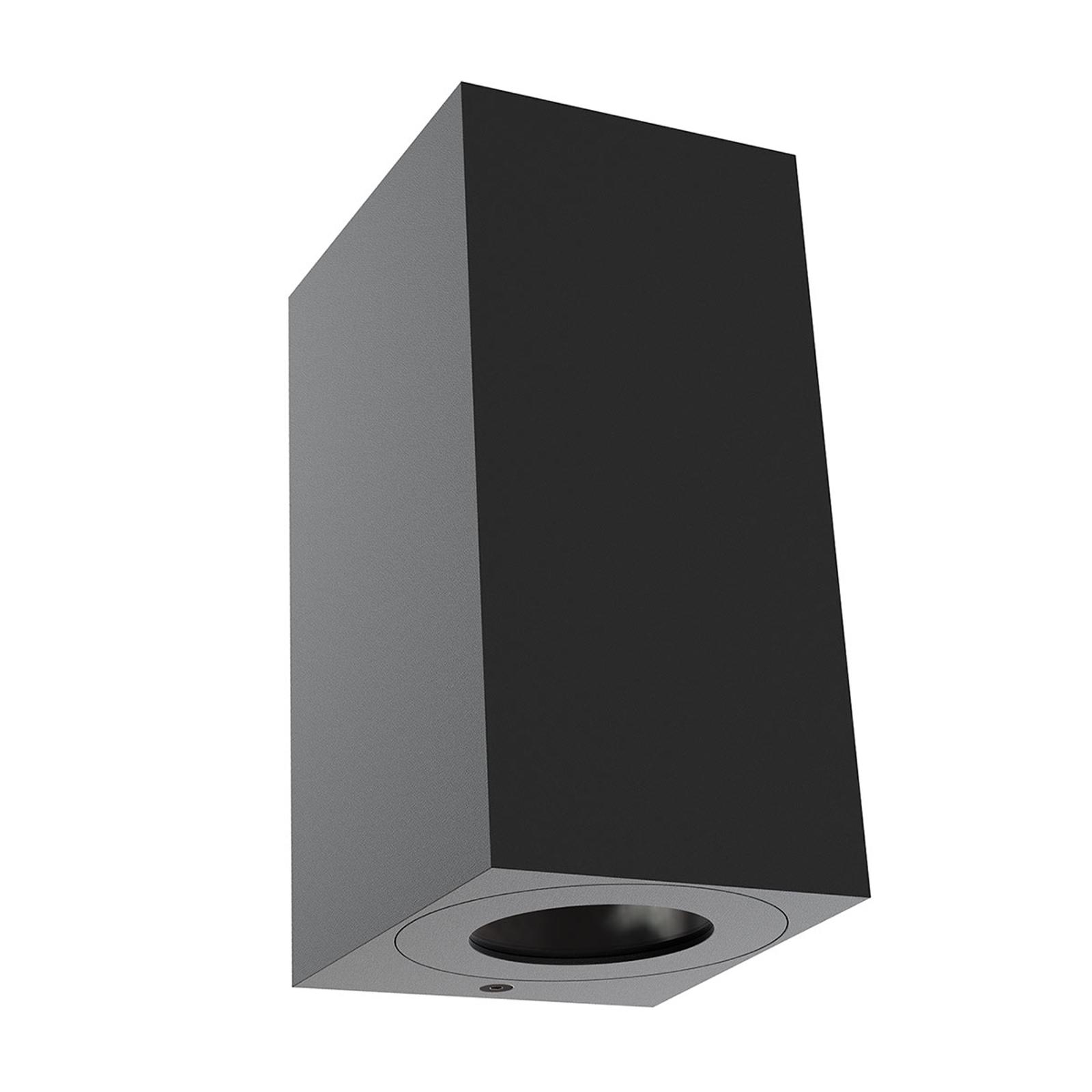 Buitenwandlamp Canto Maxi Kubi 2, 17 cm, zwart