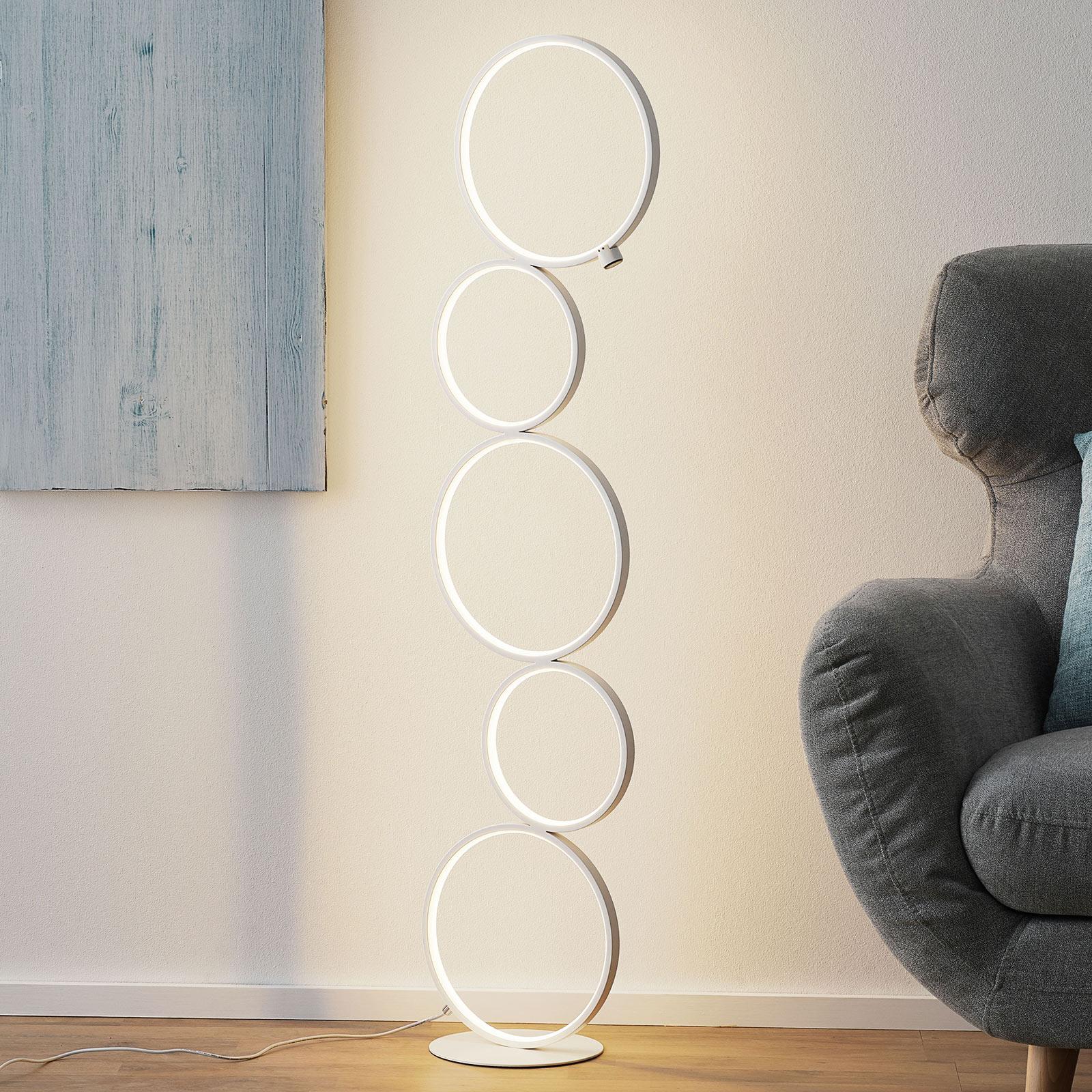 LED-golvlampa Vika med 3-stegs touchdimmer