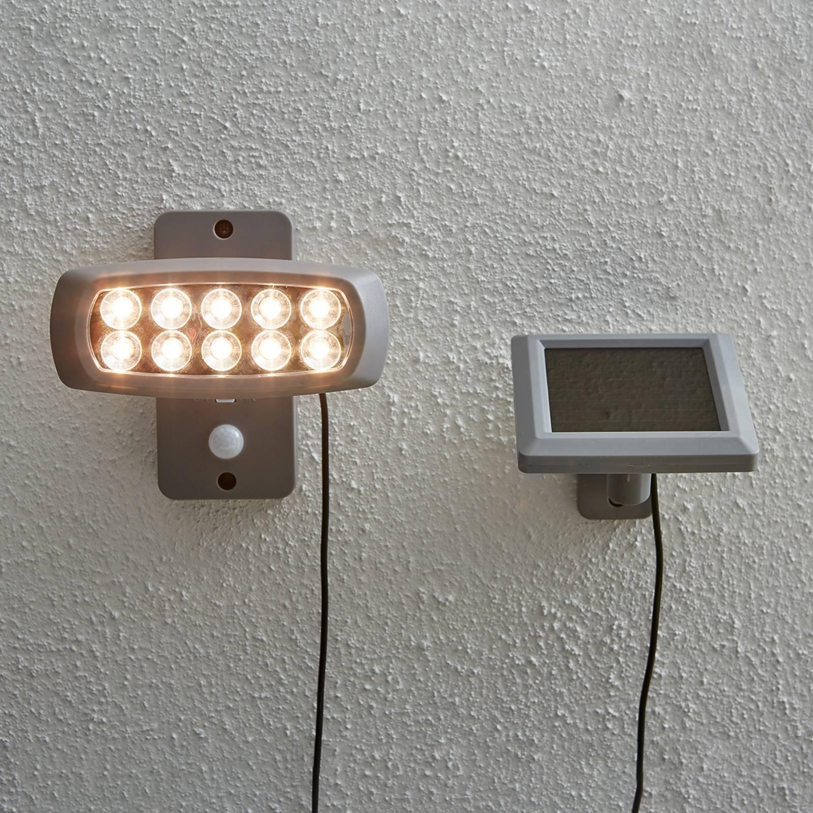 Powerspot solare LED con sensore, grigio