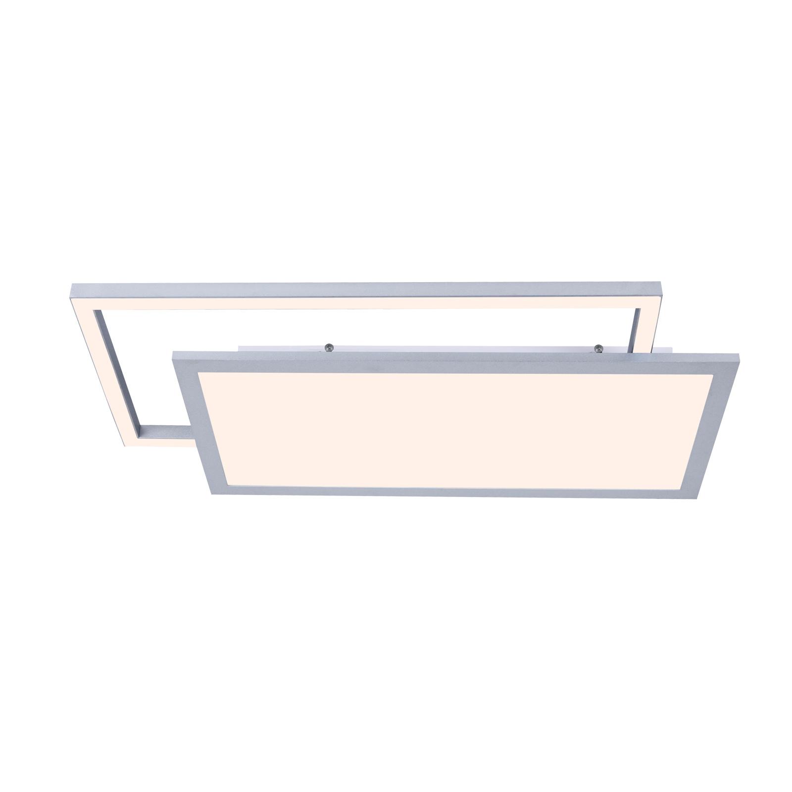 Lucande Senan LED plafondlamp, rechthoeken