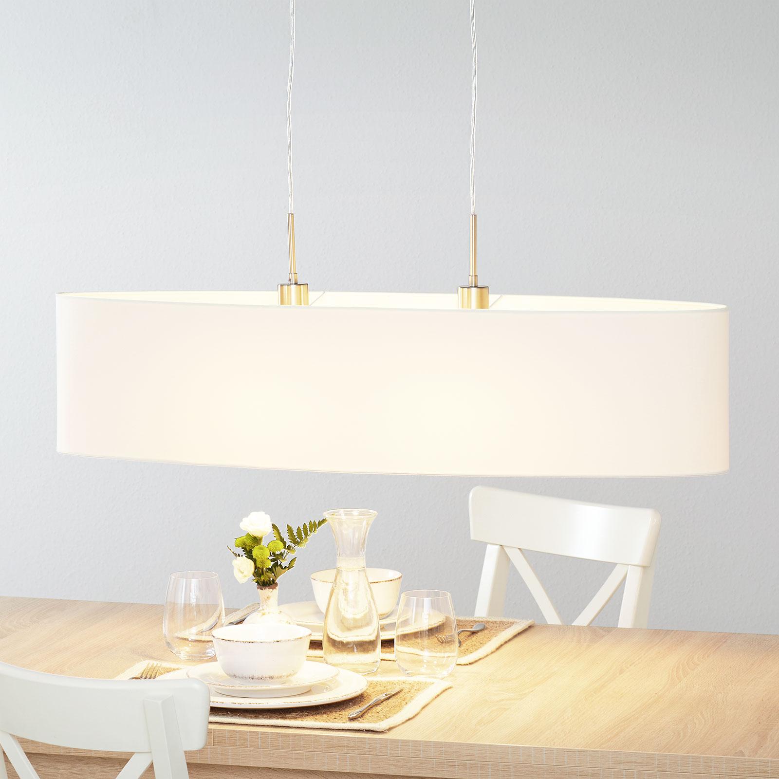 Lucande Patrik lampa wisząca 100cm kremowa