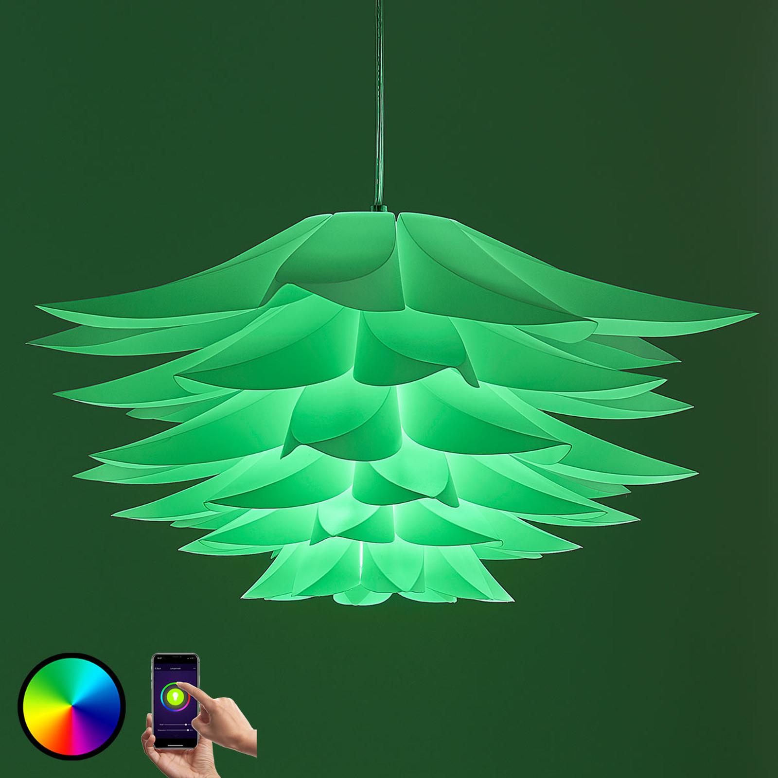 Lindby Smart Hängelampe Lavinja m. RGB-LED-Lampe