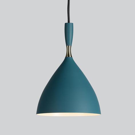 Lampa wisząca retro Dokka, petrolowa