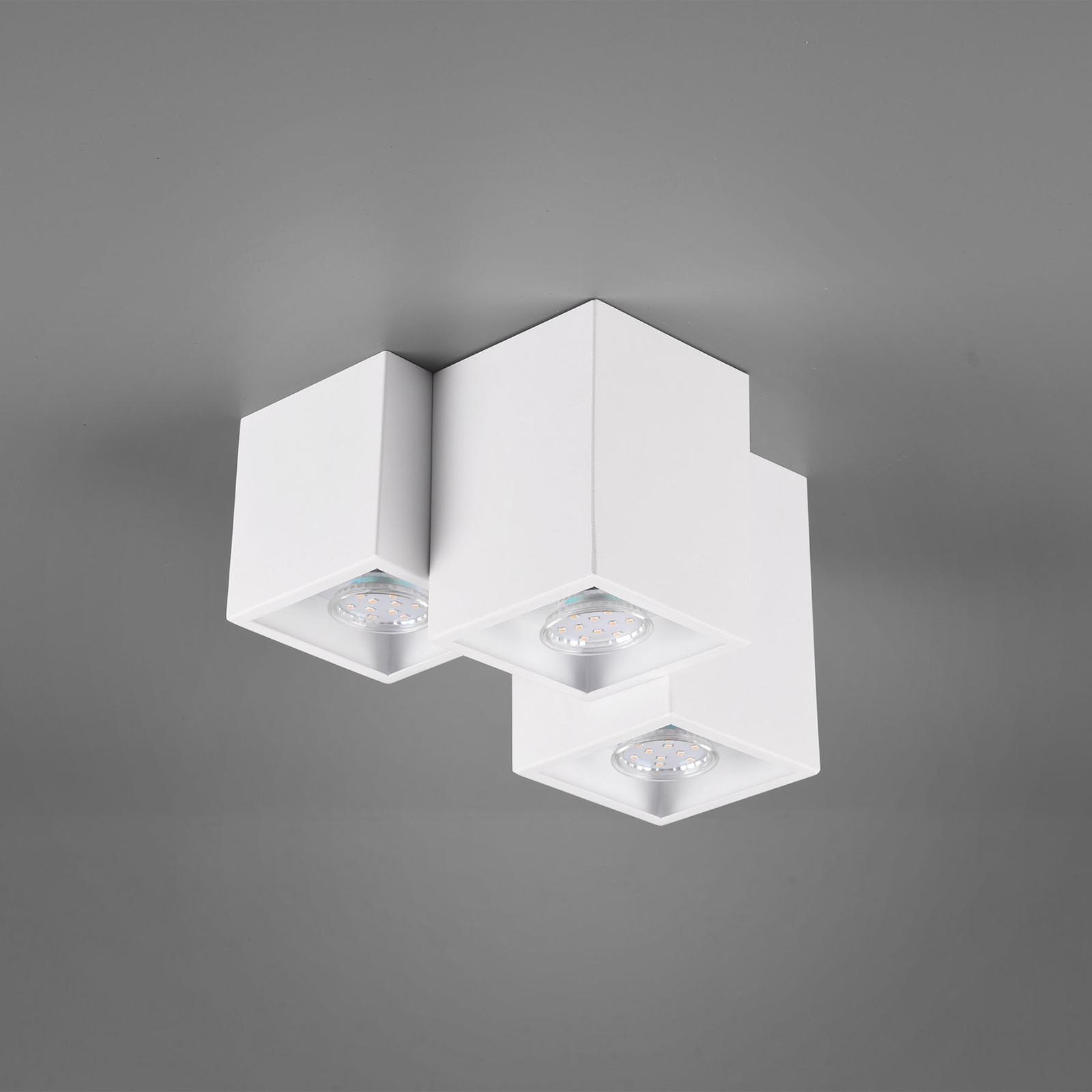 Plafondlamp Fernando, 3-lamps, mat wit
