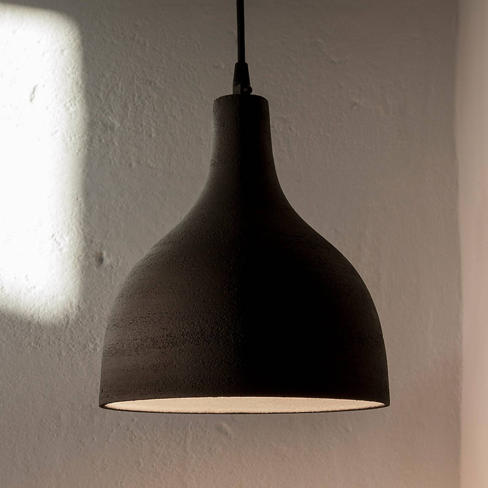 Karman T-Black - designerska lampa wisząca, 24 cm