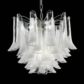Závěsné světlo Tulipani se sklem Murano, Ø 45 cm