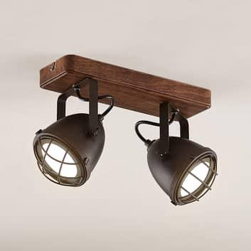 Lindby Adeon LED stropní světlo, dvoužárovkové