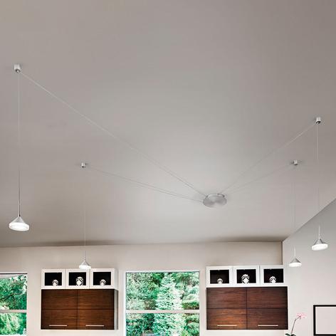 Acht kabelslots - LED hanglamp Isabella