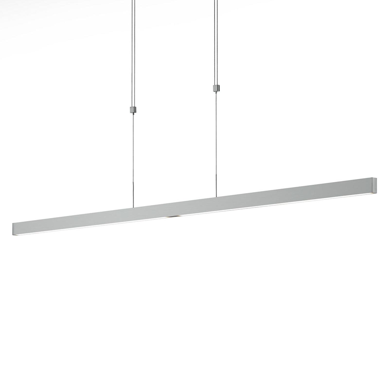 LED-Hängelampe Pia Gestensensor nickel matt 128 cm