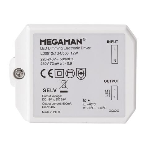Controlador LED para Rico HR, atenuable, 12 W