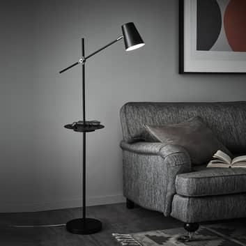 Lámpara de pie Linear con estación de carga USB
