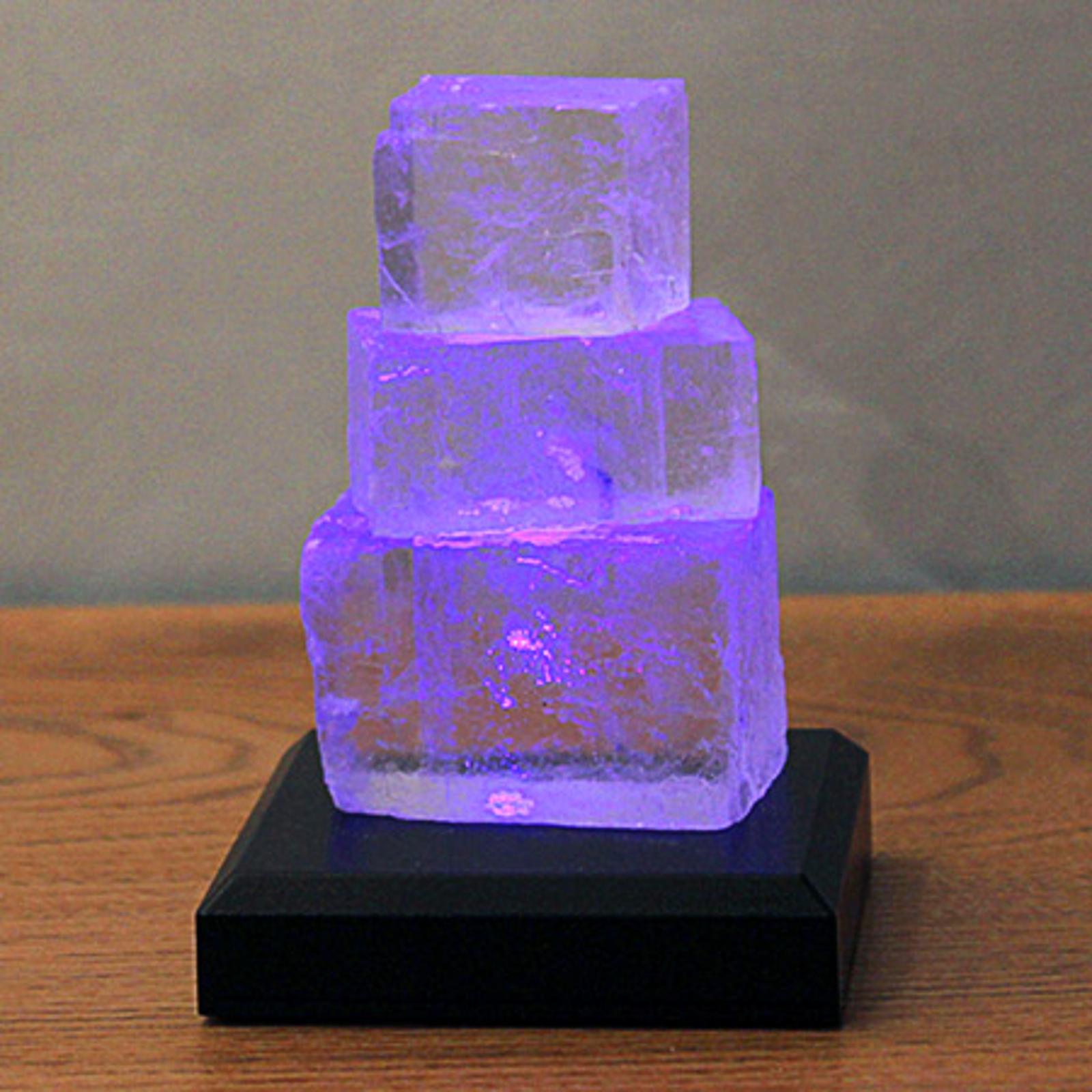 Lampada LED da tavolo Torre di halite a batterie
