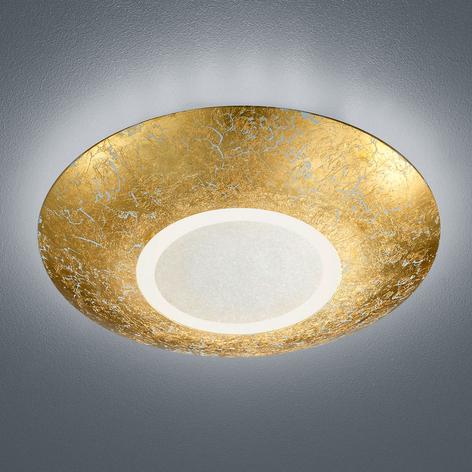 Plafonnier LED Chiros rond et doré