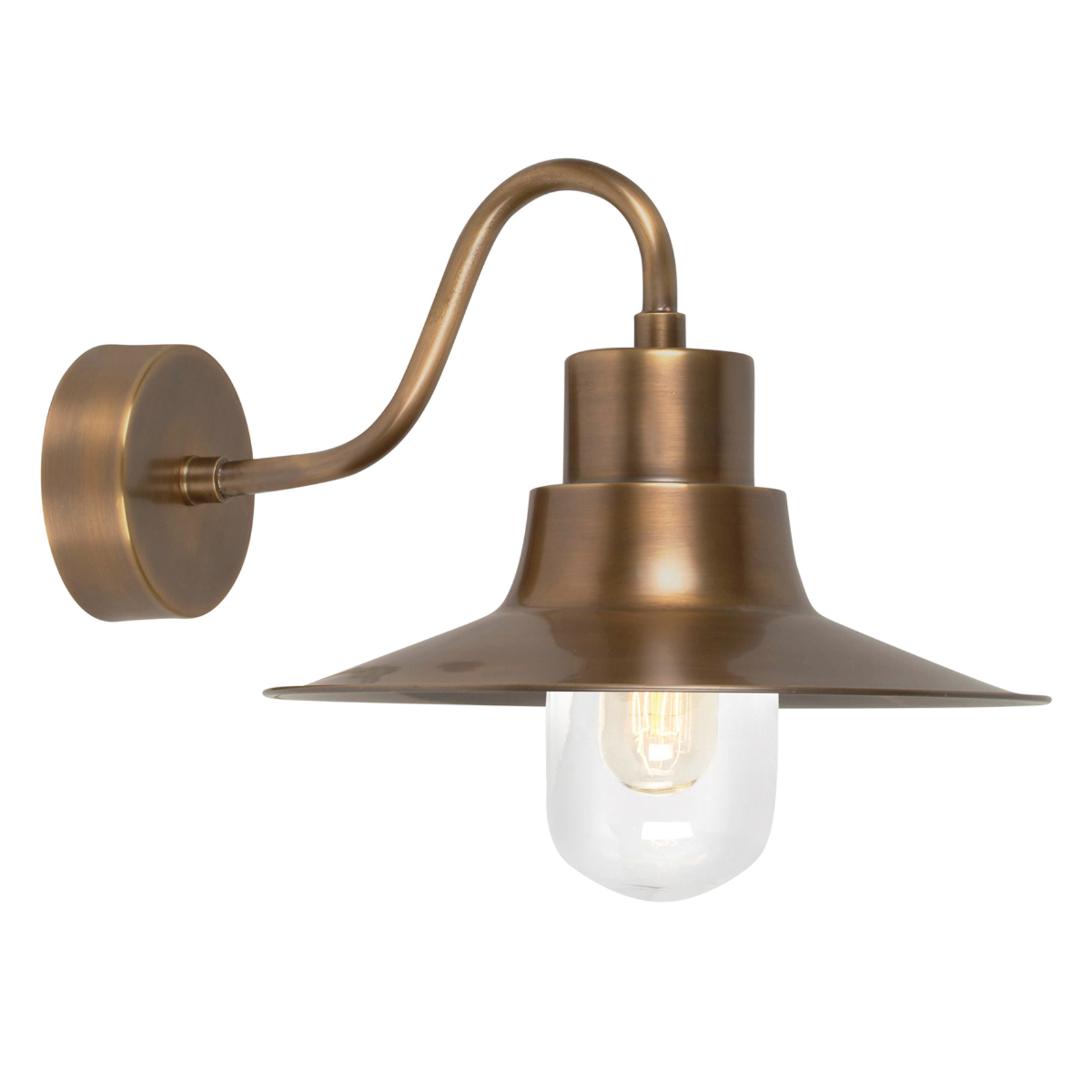 Messing-Außenwandlampe Sheldon