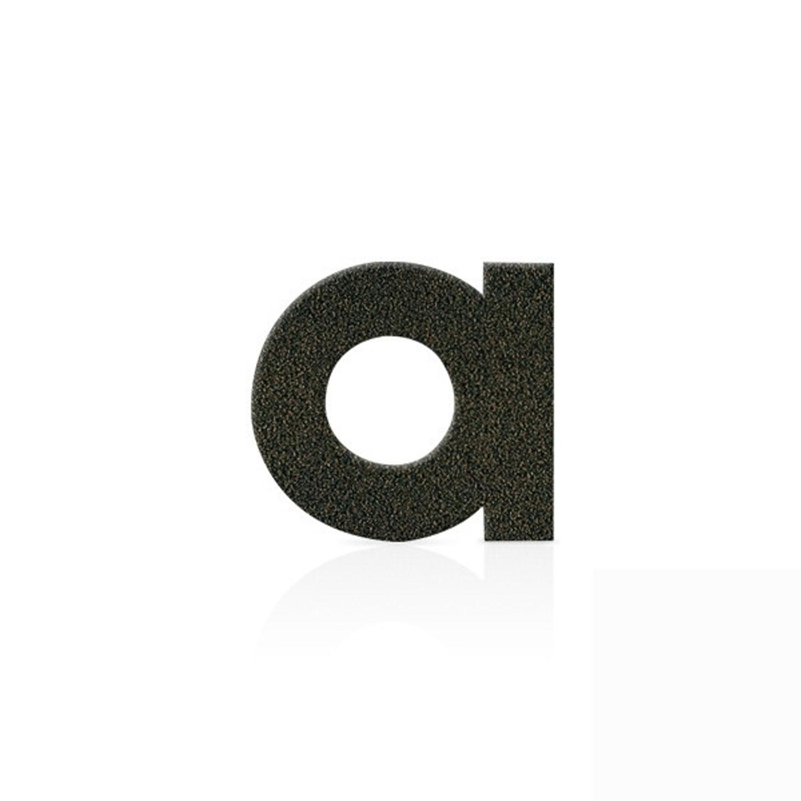 Gatenummerskilt rustfritt stål bokstaven a mokkabr