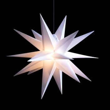 LED-stjärna för utomhusbruk, 18-uddig, vit Ø 55 cm