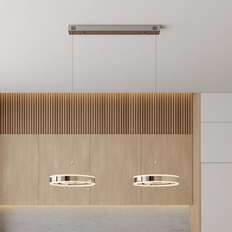 LED-Pendellampe Lyani, 2 Ringe nebeneinander