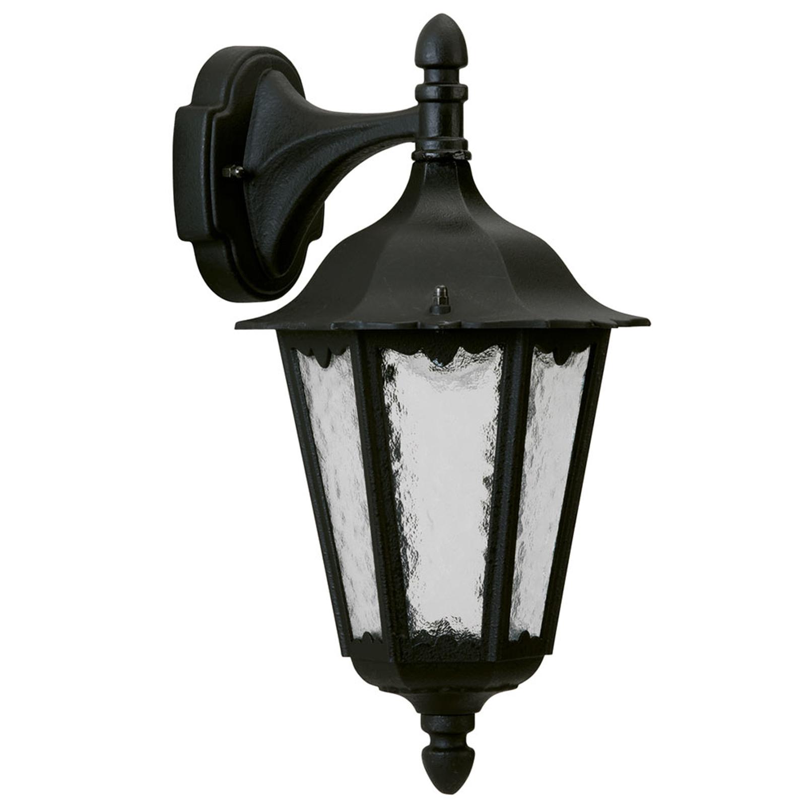 Buitenwandlamp 1819 hangend, zwart