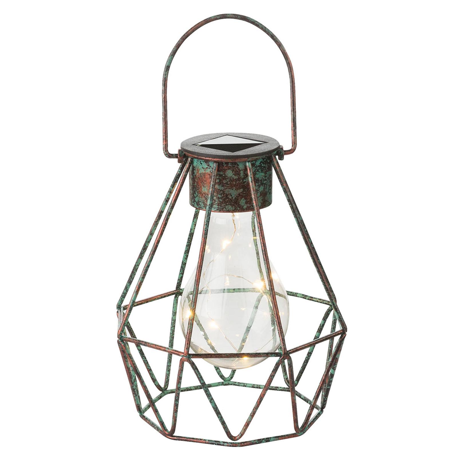 LED-dekorlampe Cage kan både settes og henges opp.