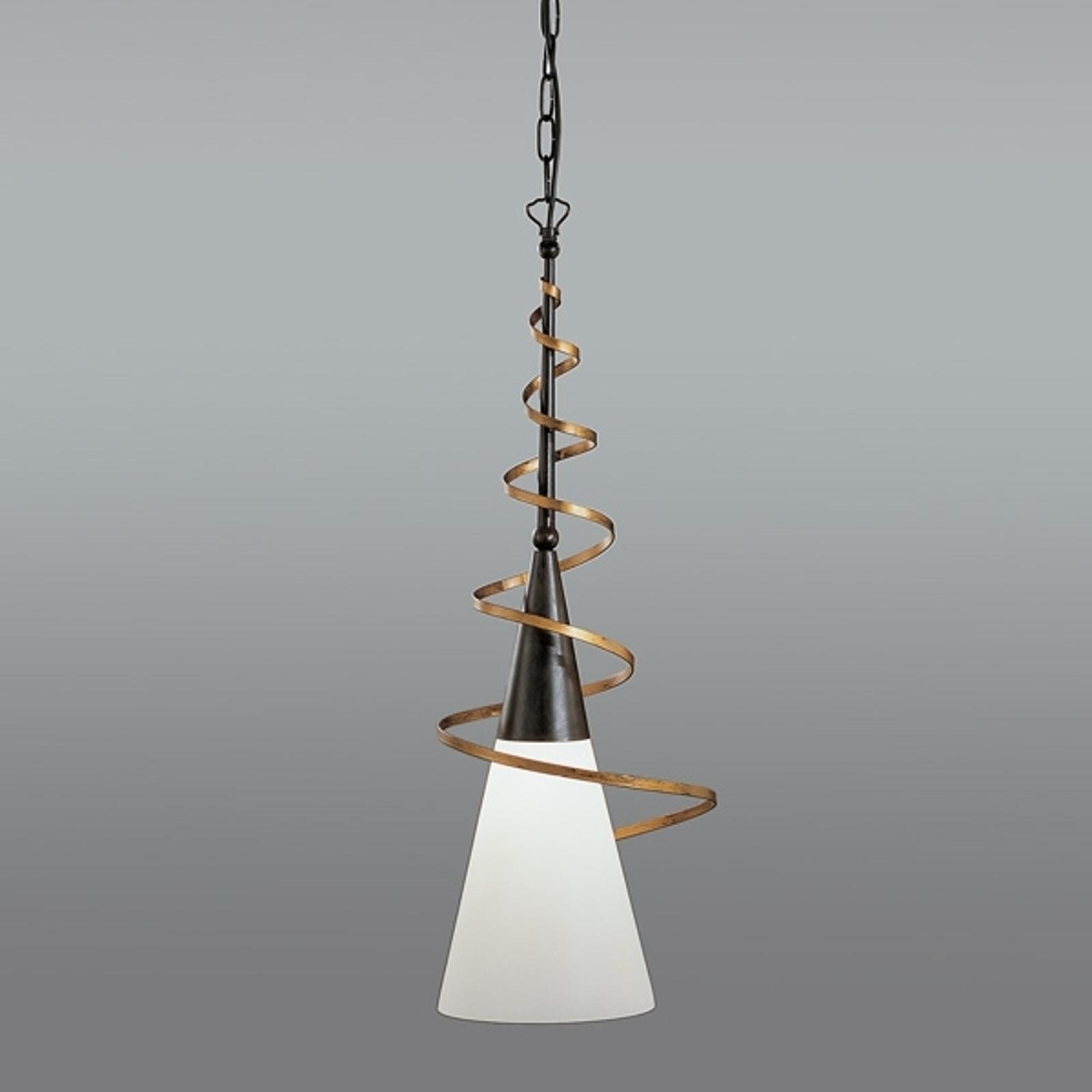 Lampa wisząca BONITO, rdzawy antyk, 75 cm