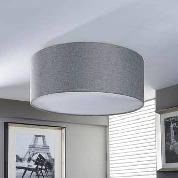 Silvergrå tygtaklampa Pitta i linne