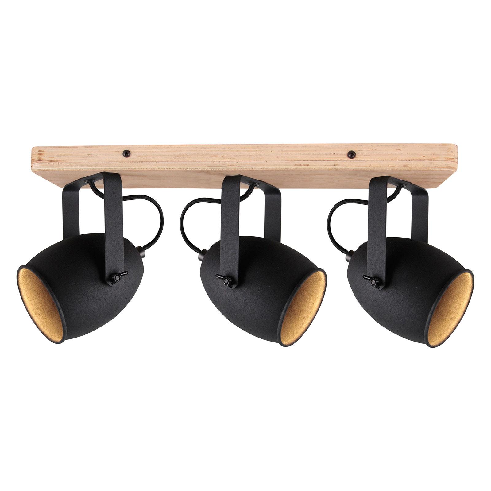 Taklampe Crowton, 3 lyskilder