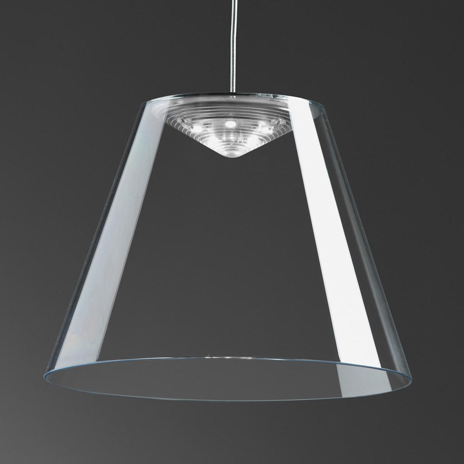 Rotaliana Dina - transparente LED-Hängeleuchte