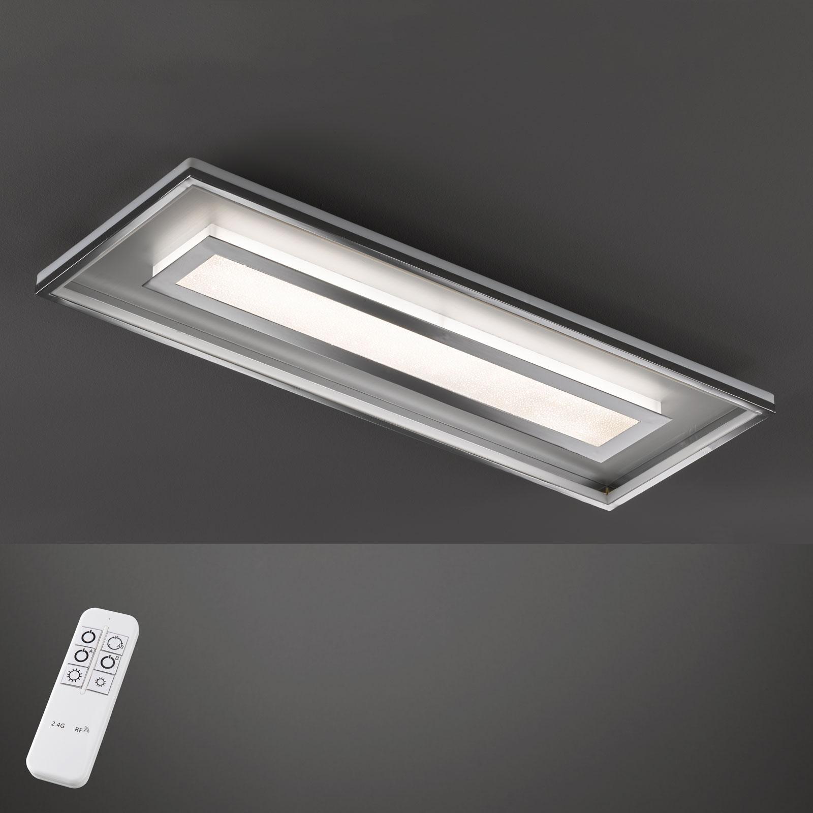 LED-taklampe Bug, rektangel, 120x40 cm, krom