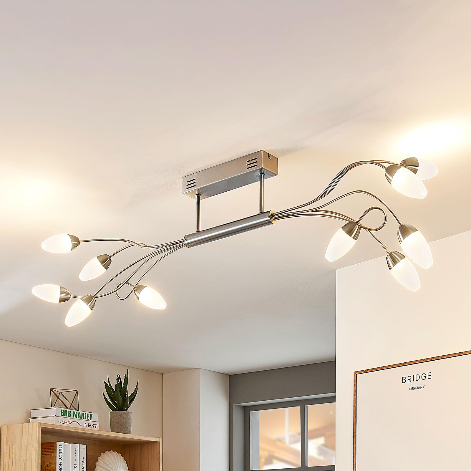 Ściemniana lampa sufitowa LED Deyan, 10-punktowa