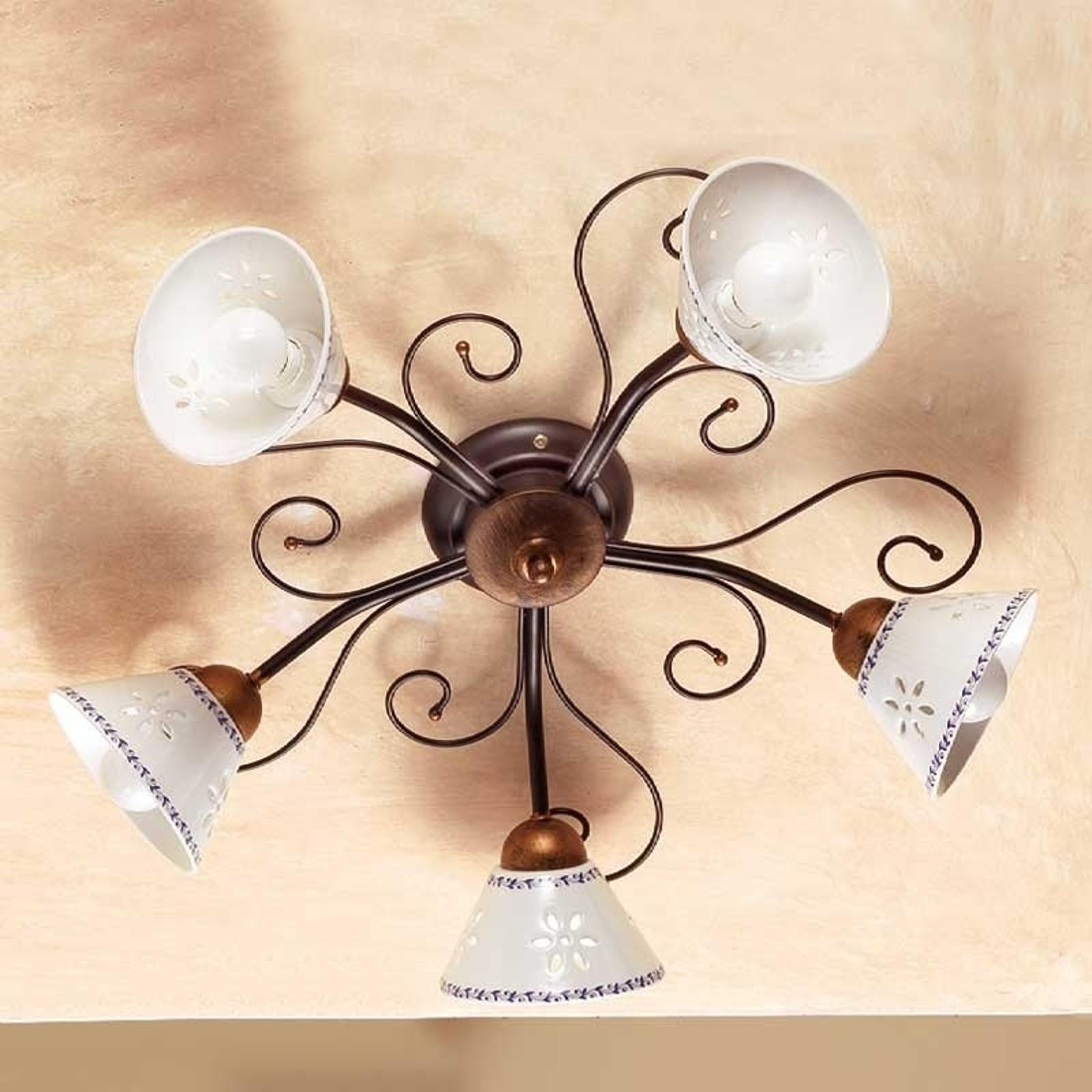Lámpara de techo romántica LIBERTY