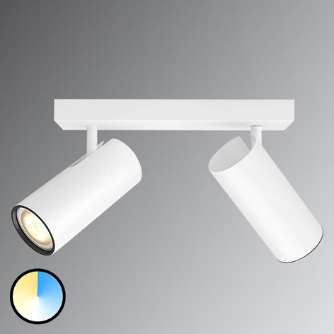 Philips Hue Buratto LED-spot hvit 2 lysk. dimmer