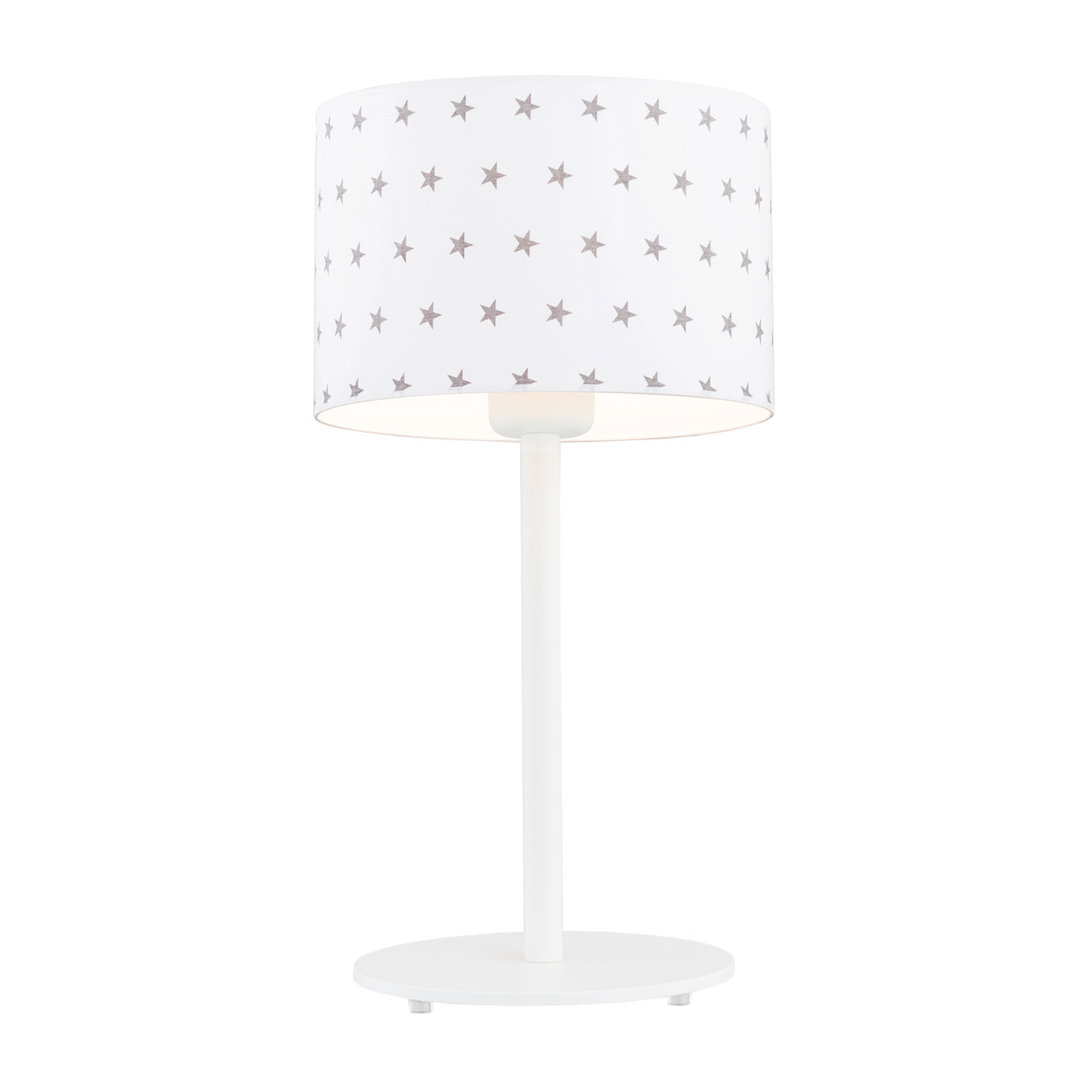 Moa bordlampe, hvid stofskærm/grå stjerner