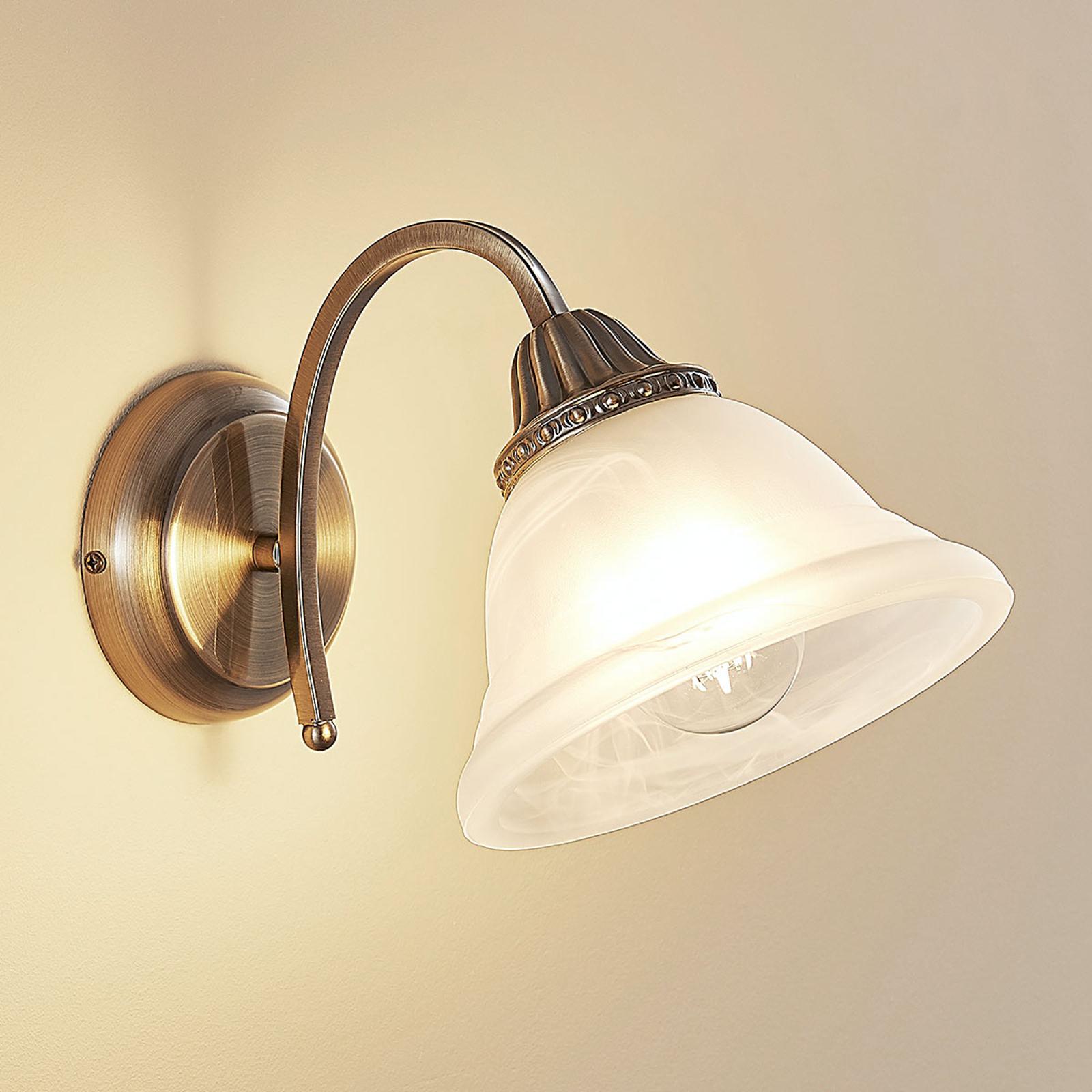 Gebogen wandlamp Mialina