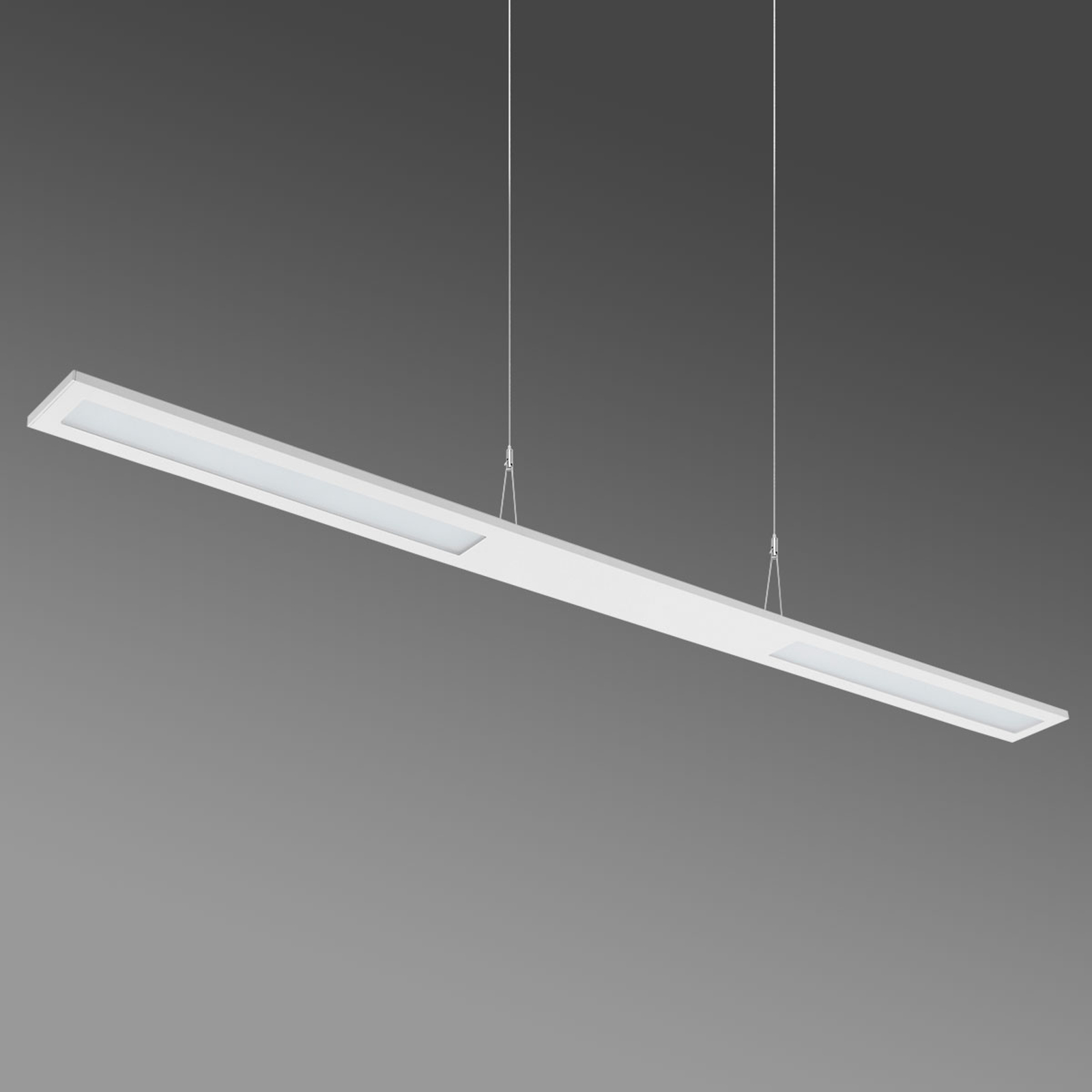 Długa lampa wisząca LED Duelis II, 4000K