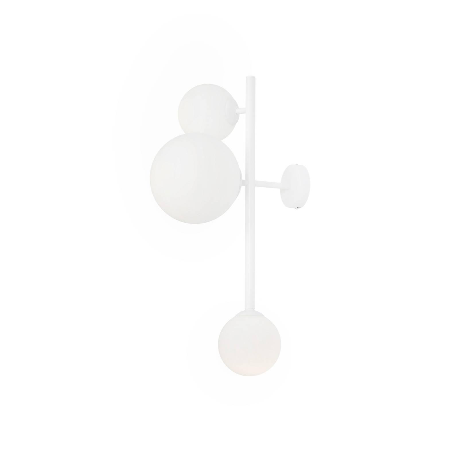 Applique Dione à trois lampes, blanche