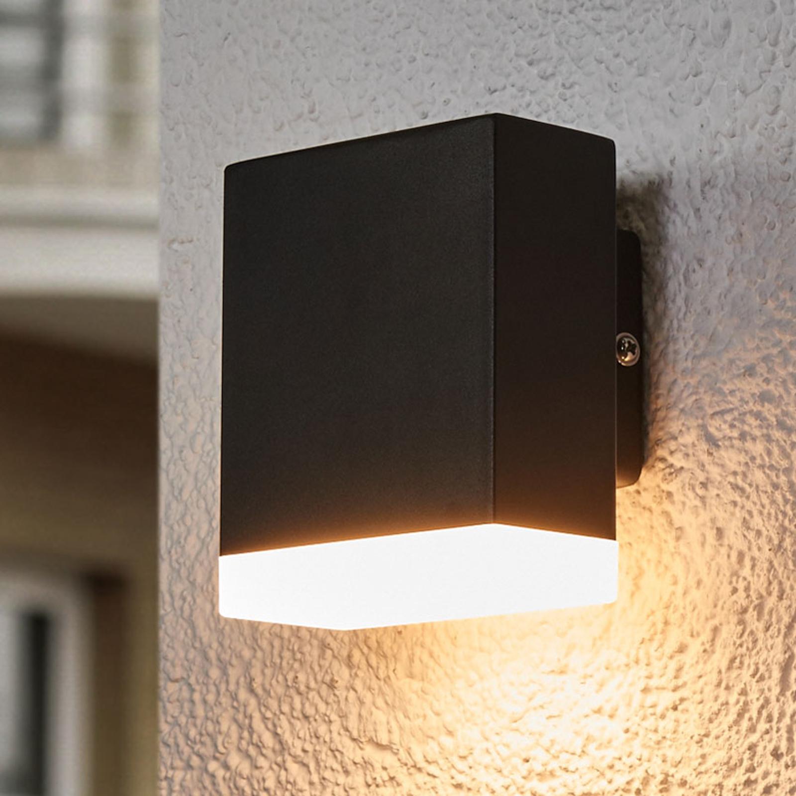 Aplique de pared exterior LED moderno Aya negro