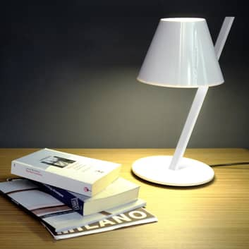 Witte design tafellamp La Petite