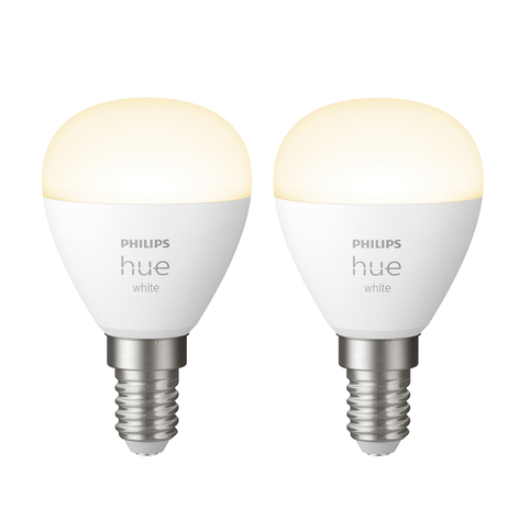 Philips Hue White LED-Tropfenlampe 2 x E14 5,7W