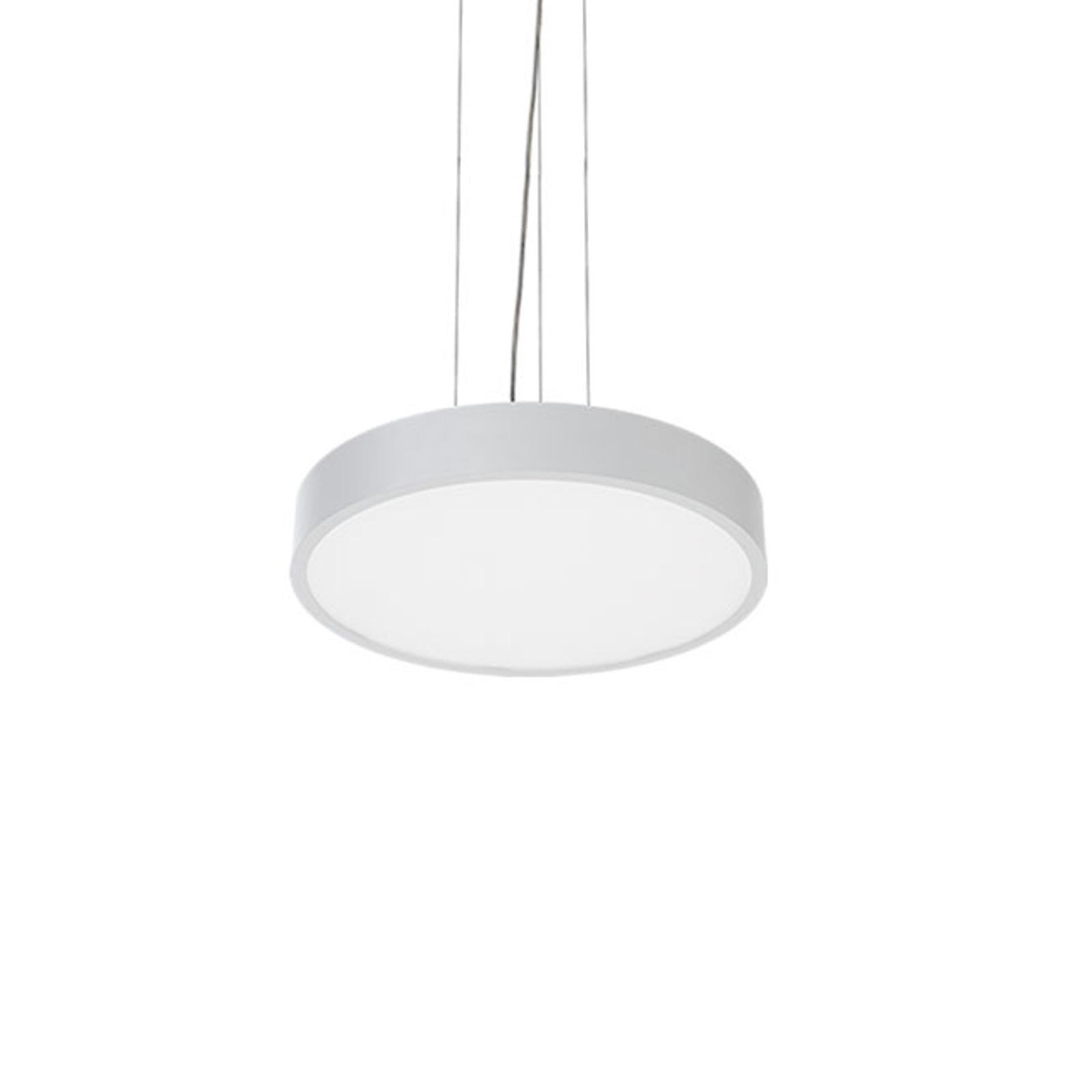 Lampa wisząca LED C90-P, Ø 57 cm, 3000 K, biała