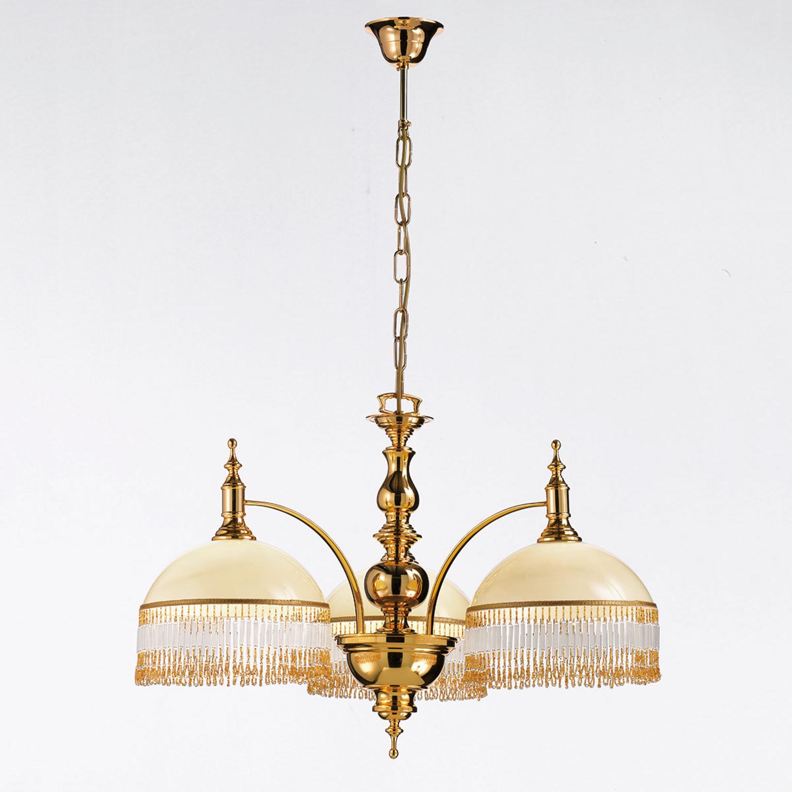 Nobel taklampa Corola med smyckande behäng