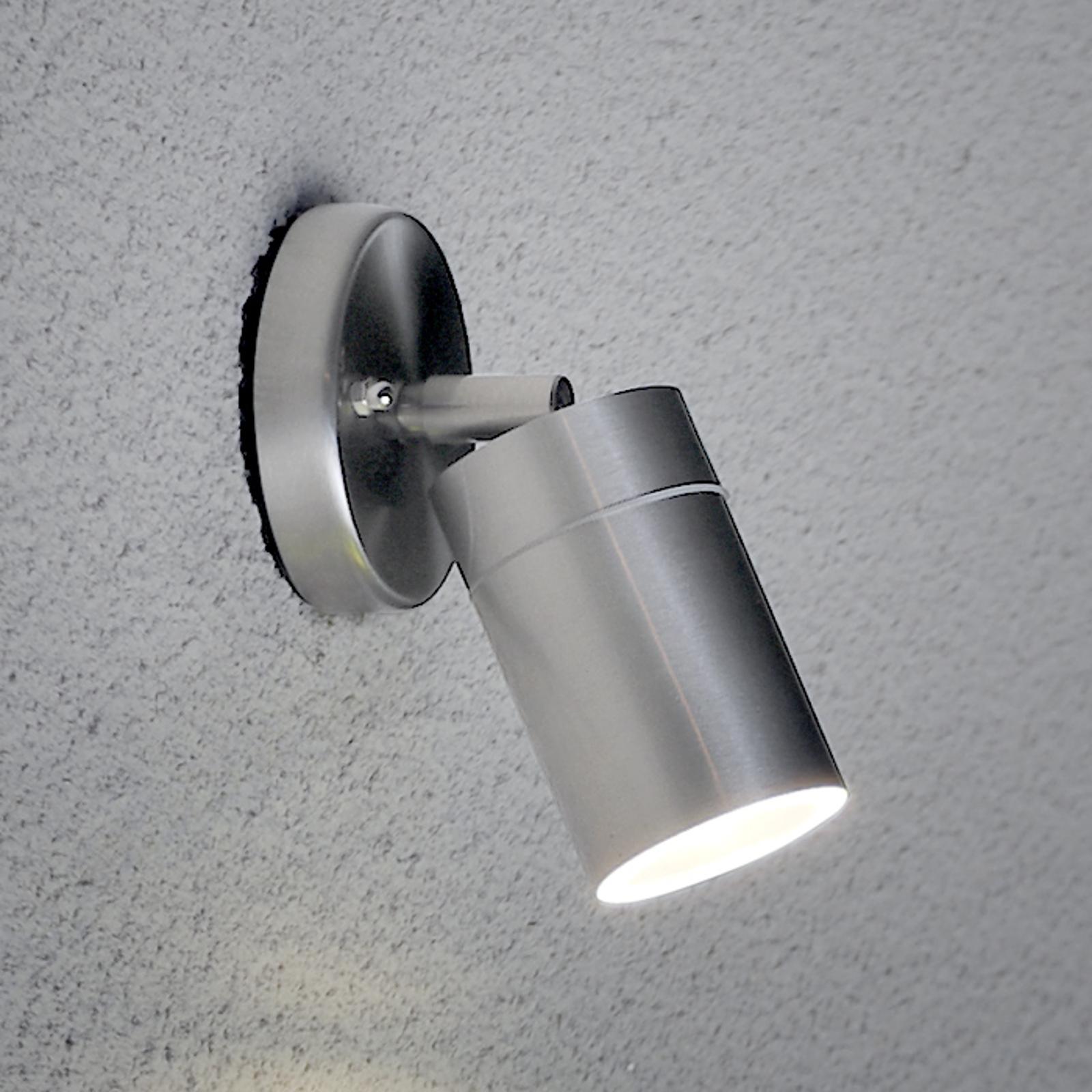 Flexibele buitenwandlamp NEW MODENA, rvs