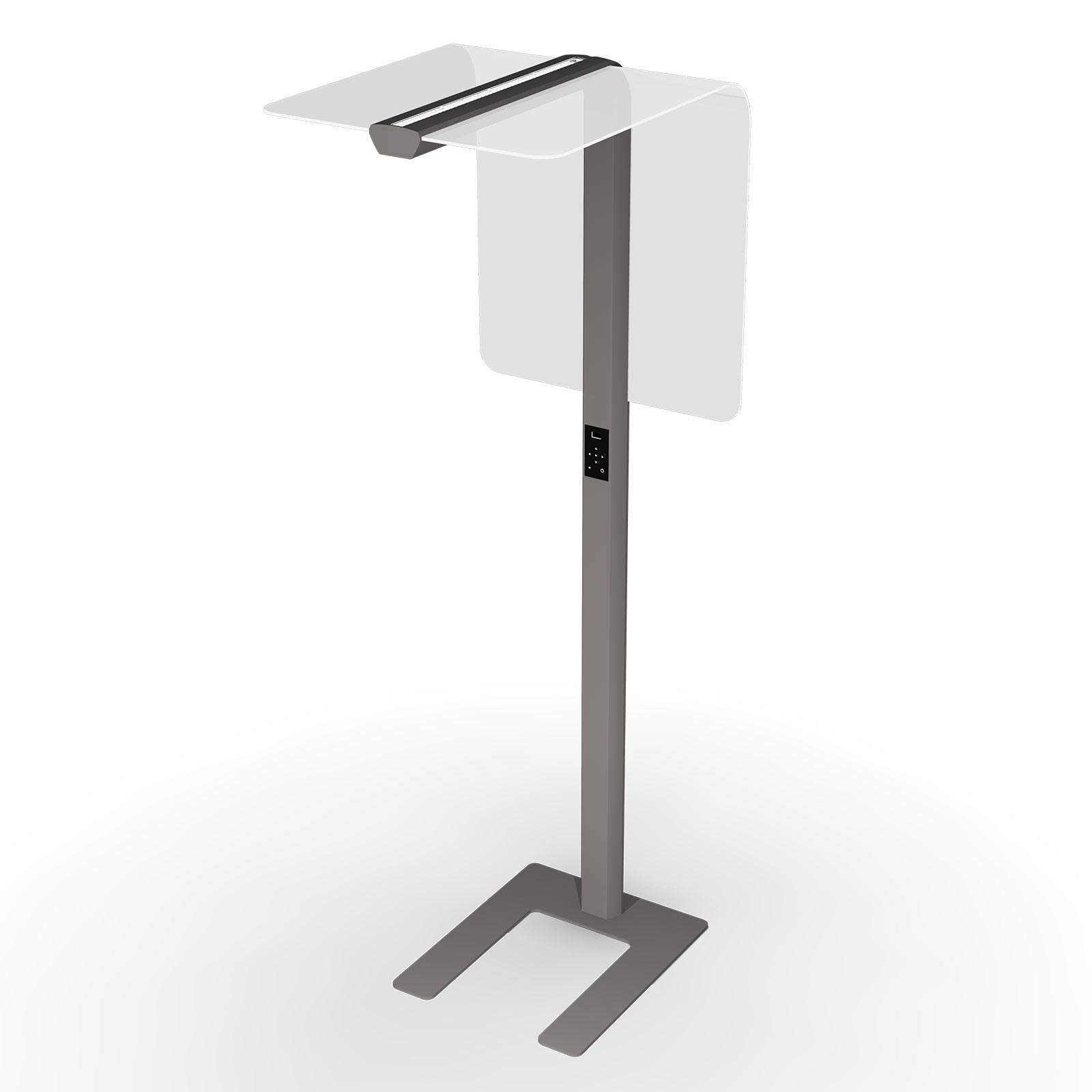 LED-Stehleuchte eva place 2D1E RAL 9006 weißalu