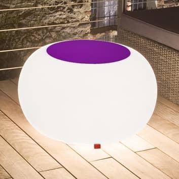 Bubble Outdoor bord, hvidt lys + violet filt