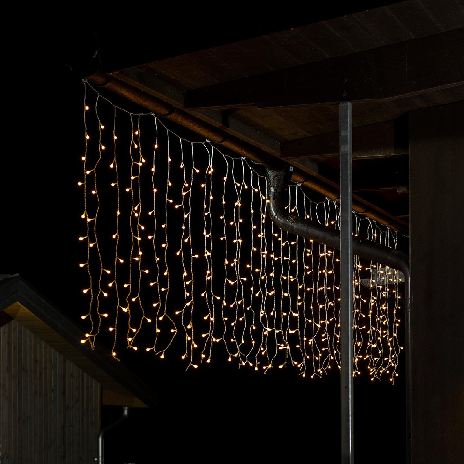 Mikroljusgardin för utomhus, 400 ljus