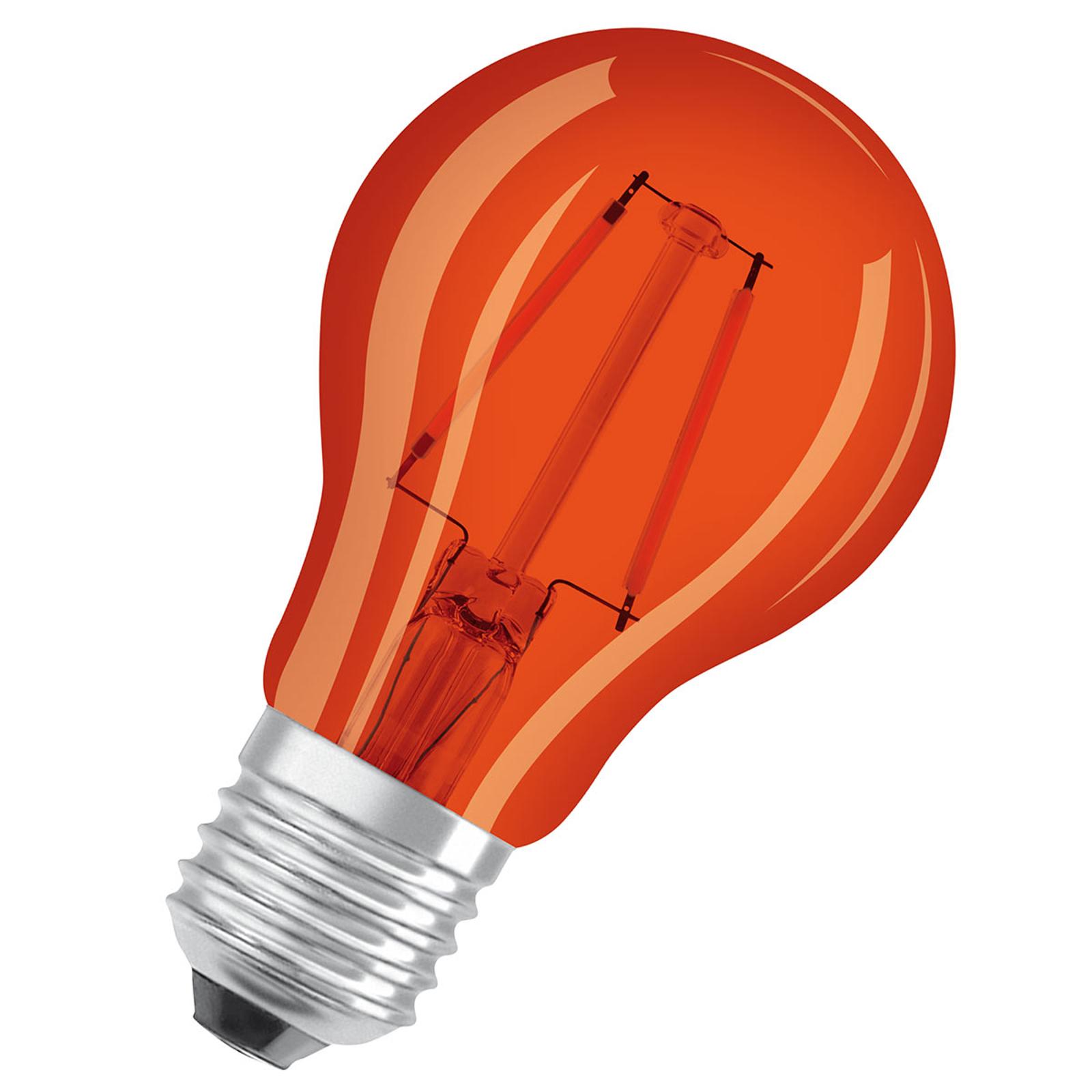OSRAM LED-Lampe E27 Star Décor Cla A 2,5W, orange